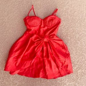 Forever 21 red cocktail dress-S